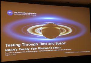 color photo of Cassini mission talk